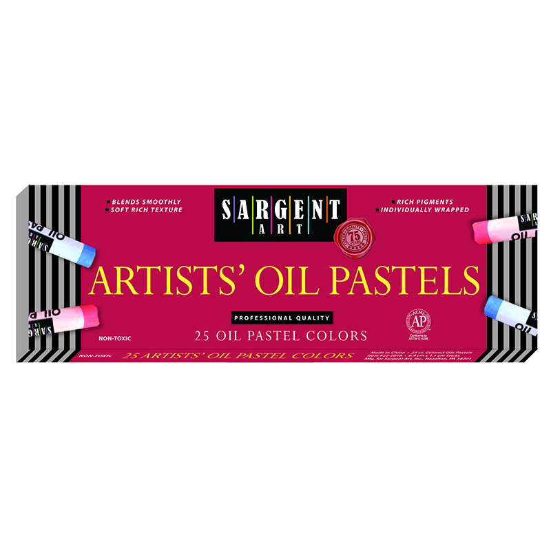 (6 Bx) Sargent Regular Oil Pastels25 Per Bx