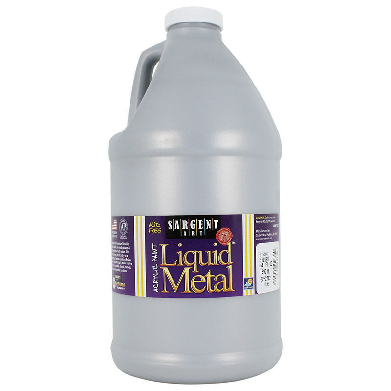 Liquid Metal Acry Paint 64 Oz Slvr