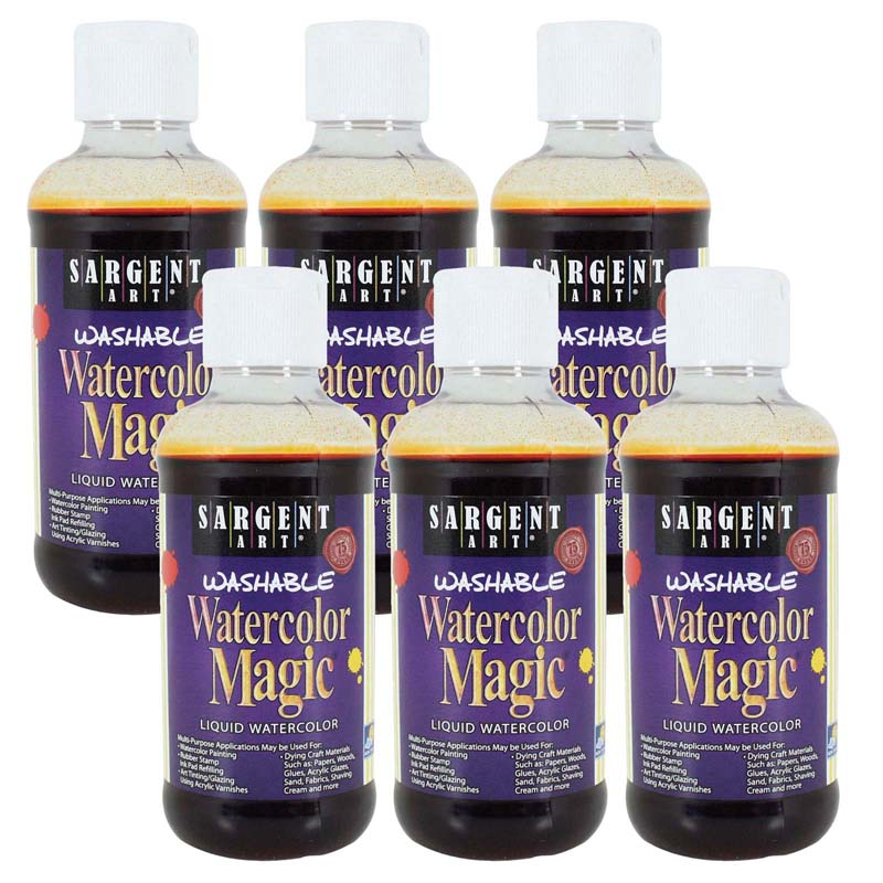 (6 Ea) Watercolor Magic Orange 8oz