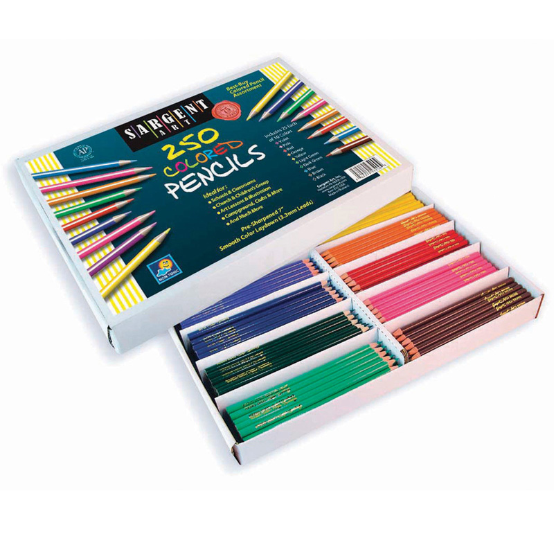 Sargent Art Colored Pencils 250/pk