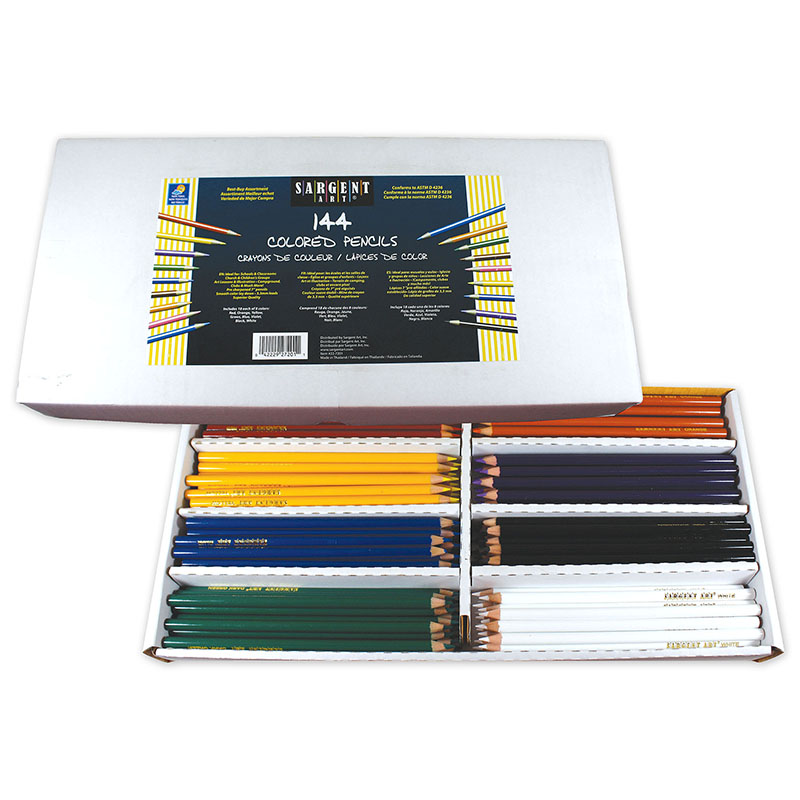 144ct Sargent Colored Pencil Bestbuy Assortment 8 Colors 18 Of Each