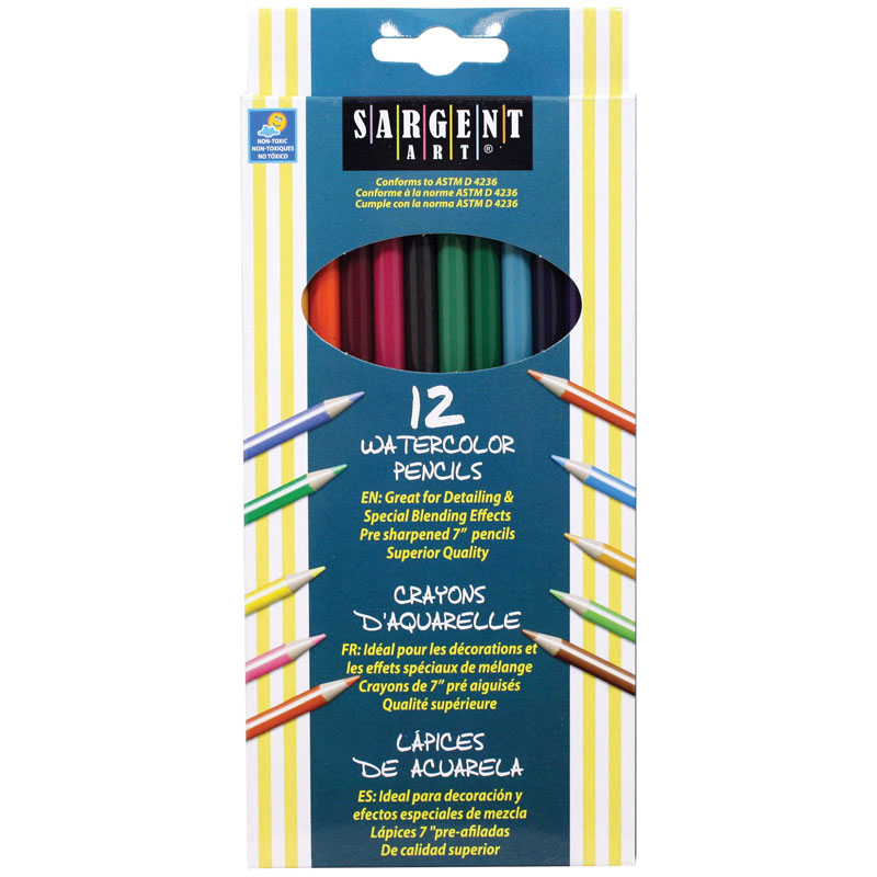 12ct Sargent Watercolor Pencil 7 In