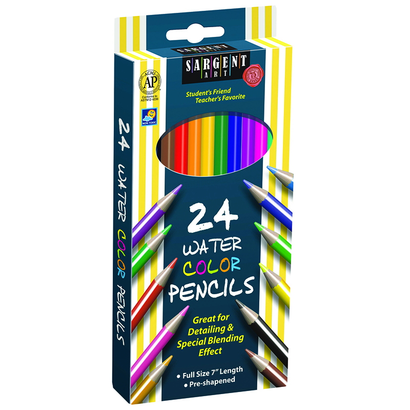 24ct Sargent Watercolor Pencil 7 In