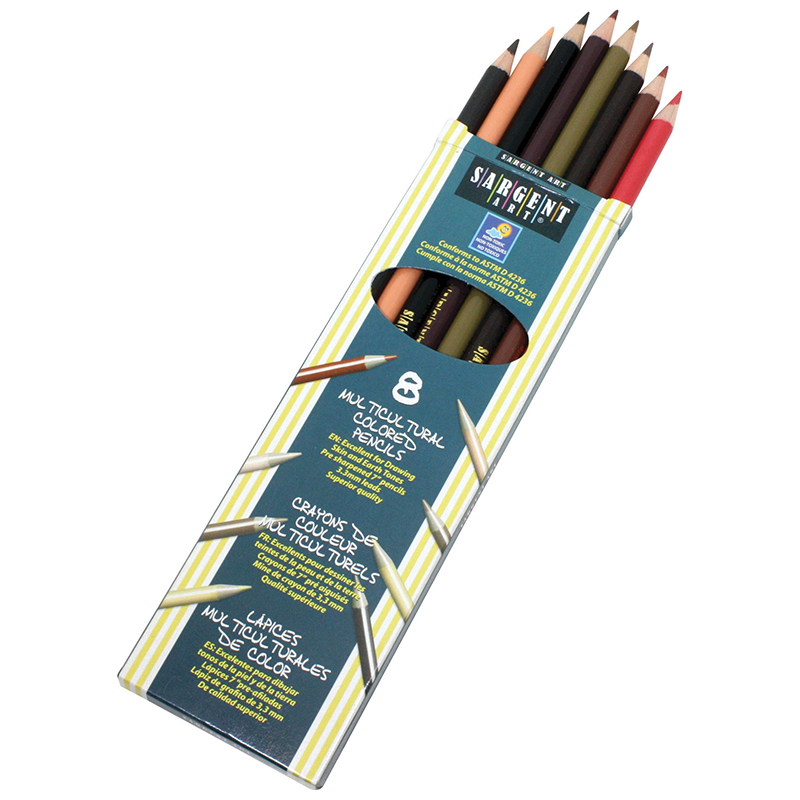8ct Sargent Colors Of My Friendsmulticultural Pencil 7 In