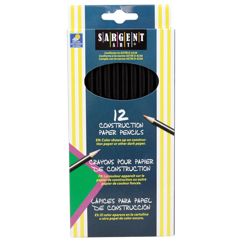 (6 Bx) Colored Pencils For Constrpaper 12 Colors Per Pk