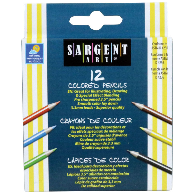 Sargent Art Half-sized Coloredpencils 12 Color Set