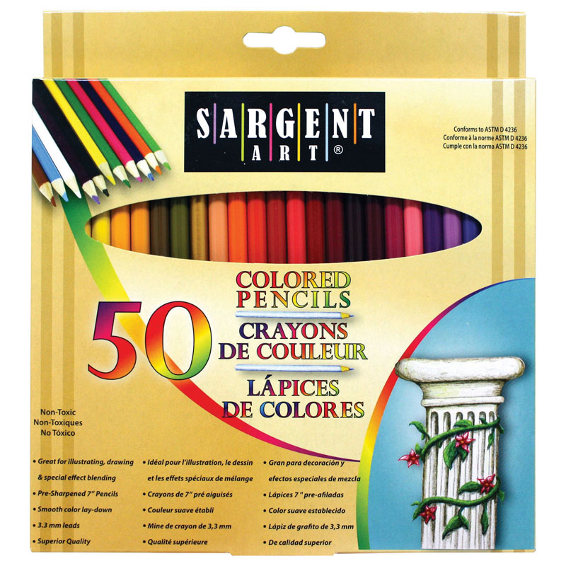 Colored Pencils 50 Color Set