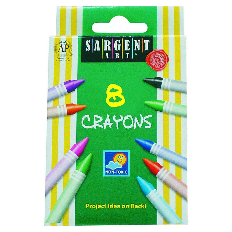 Sargent Art Crayons 8 Count Tuck Bx