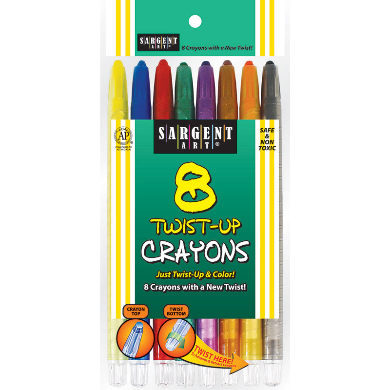 (12 Bx) Twist Up Crayon 8 Per Bx