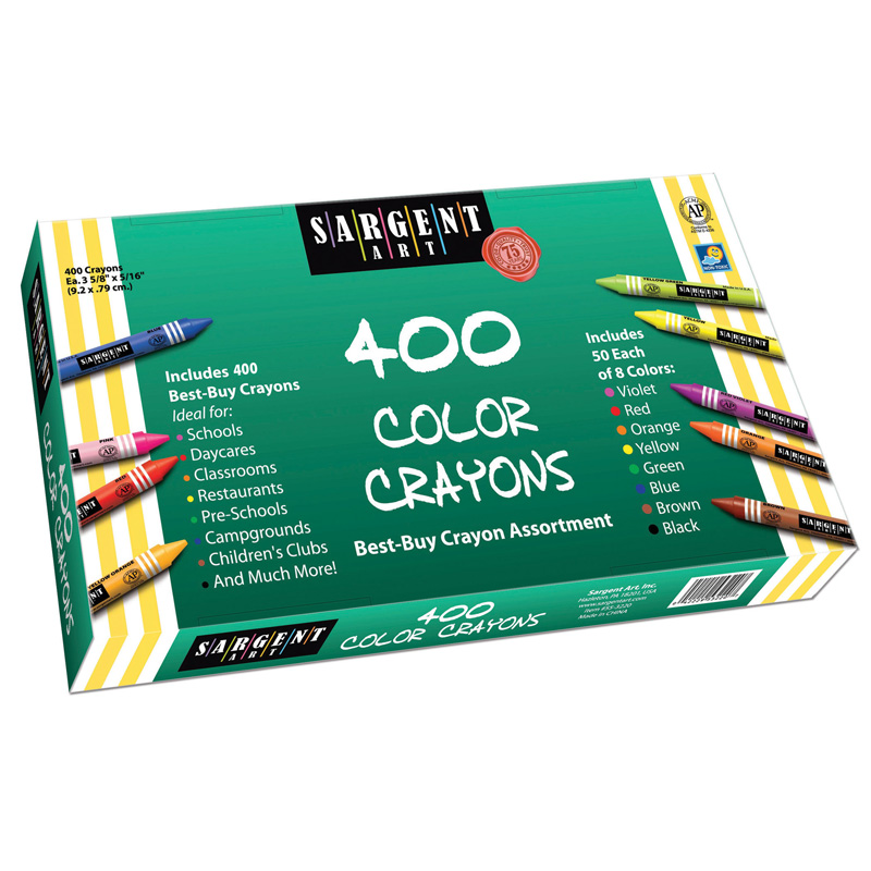 Sargent Art Best Buy Crayonassortment 400 Standard Crayons