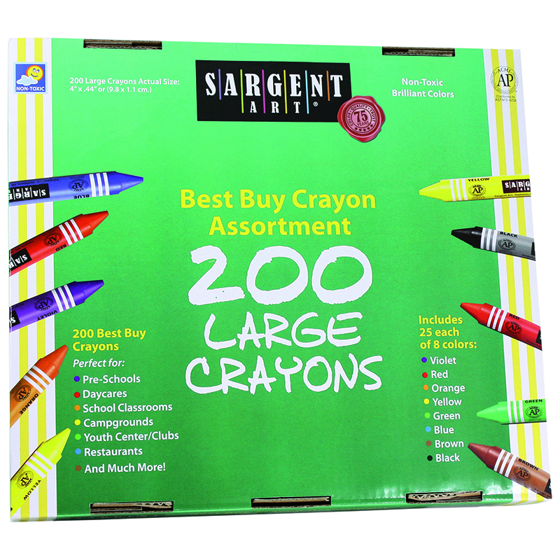Sargent Art Large Crayons 200 Largesize