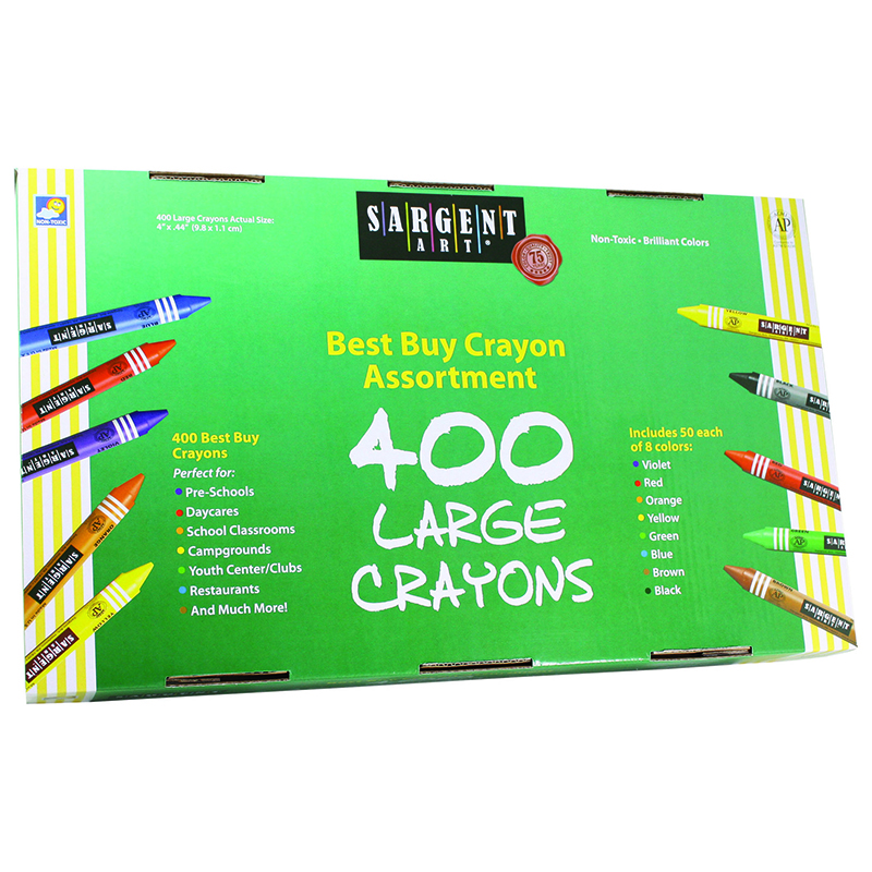 Sargent Art Best Buy Crayon Asstlg Size 400 Ct