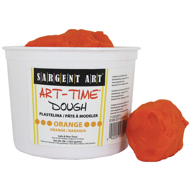(3 Ea) 3lb Art Time Dough Orange