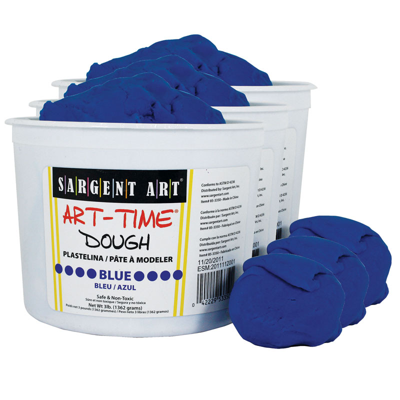 (3 Ea) 3lb Art Time Dough Blue