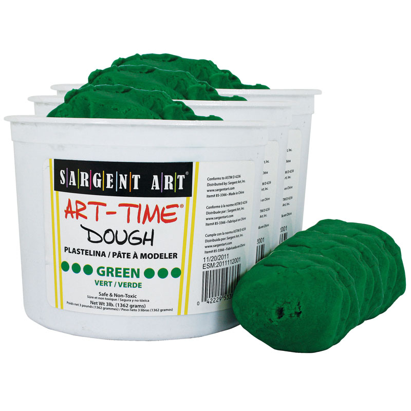 (3 Ea) 3lb Art Time Dough Green