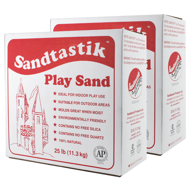 (2 Ea) Sandtastik White Play Sand25lb Box