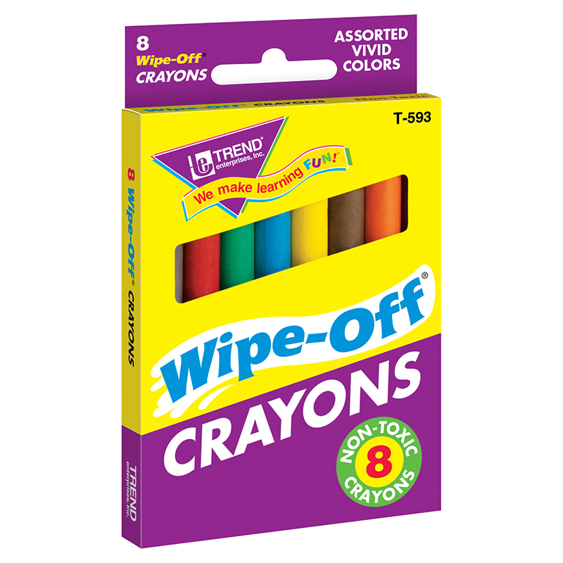 (12 Bx) Wipe-off Crayons Regular8 Per Pk