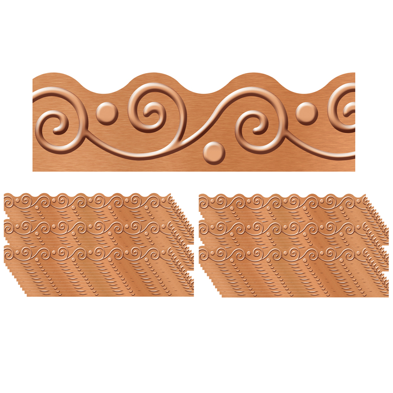 (6 Pk) Copper Scrolls Terrifictrimmers I Heart Metal