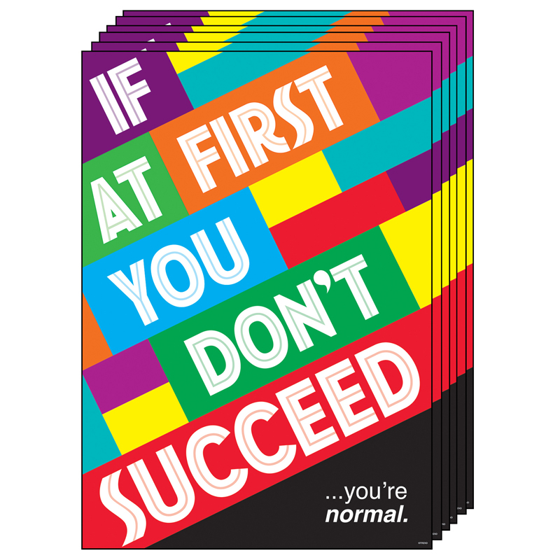 (6 Ea) If At First You Dnt Succeedposter