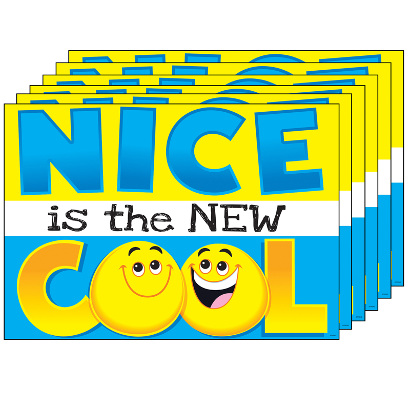 (6 Ea) Nice Is The New Cool Argusposter
