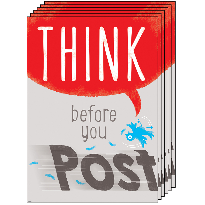 (6 Ea) Think Before You Post Argusposter