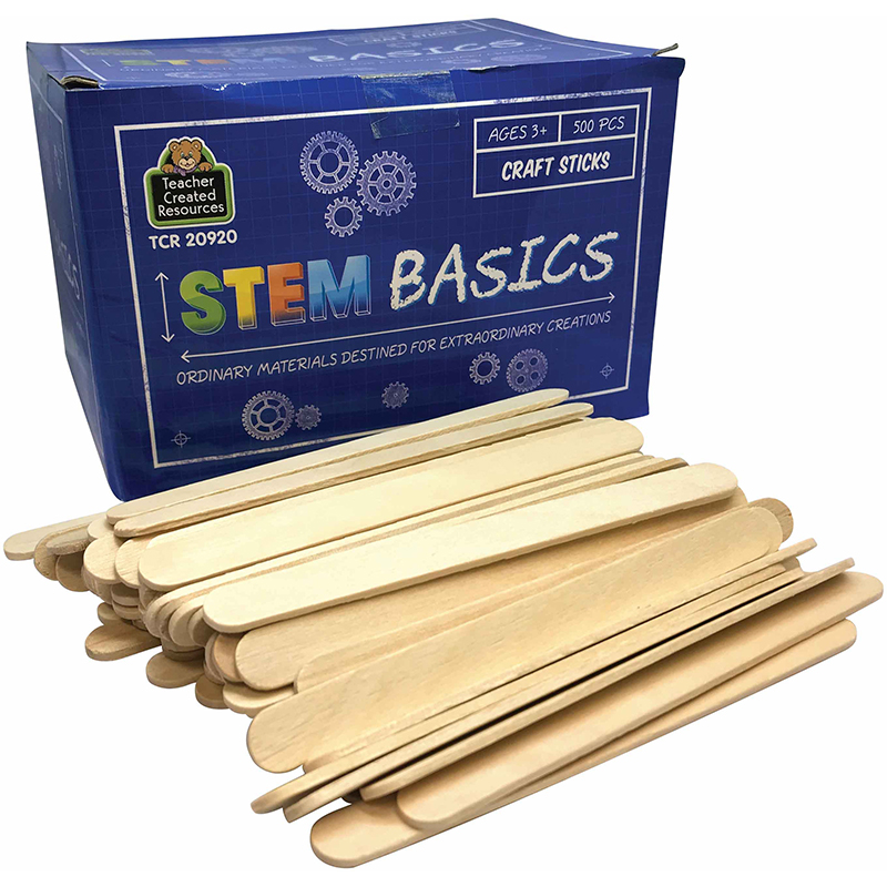 Stem Basics Craft Sticks 500