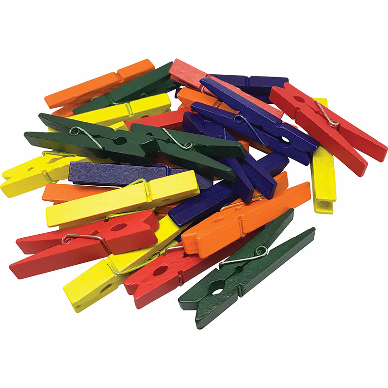 Medium Multicolor Clothespins 50 Ctstem Basics