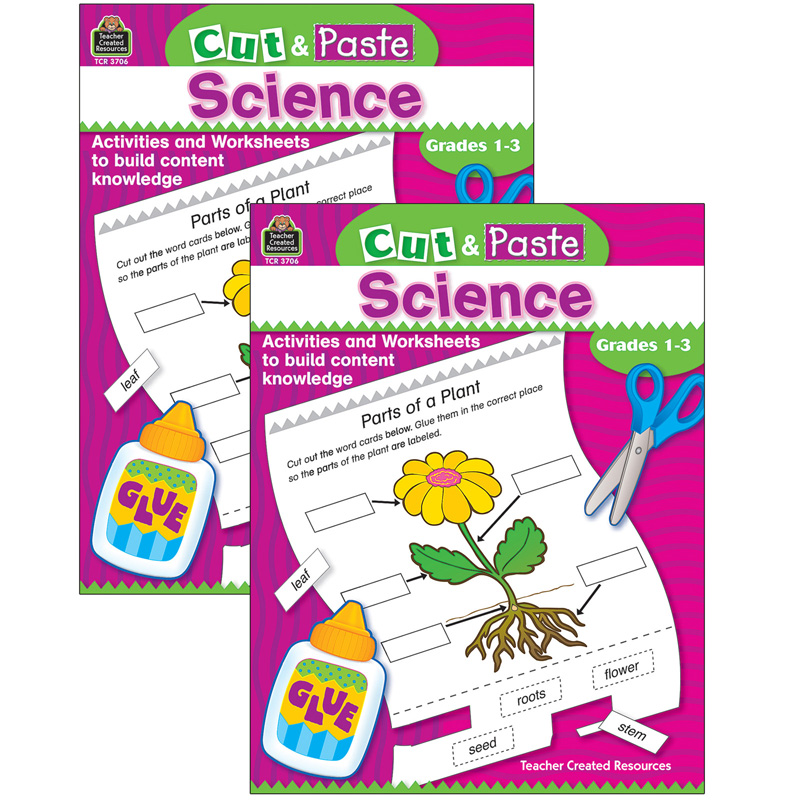 (2 Ea) Cut & Paste Science Gr 1-3