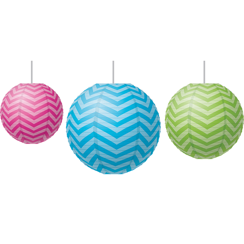 (3 St) Chevron Paper Lanterns