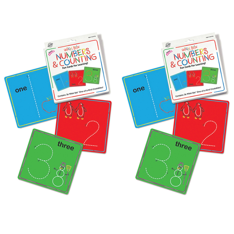 (2 Ea) Wikki Stix Numbers &counting Cards
